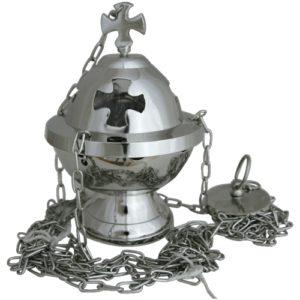 Weihrauchfass mit Kreuz H 16cm
