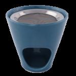 Räucherstövchen Keramik metallblau