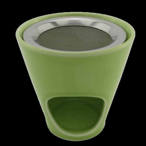 Räucherstövchen Keramik grün