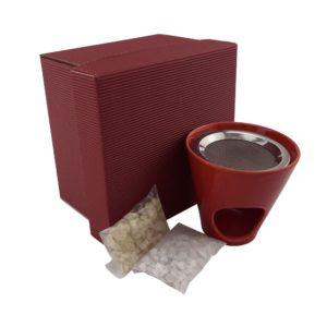 Geschenkset Räucherstövchen rot