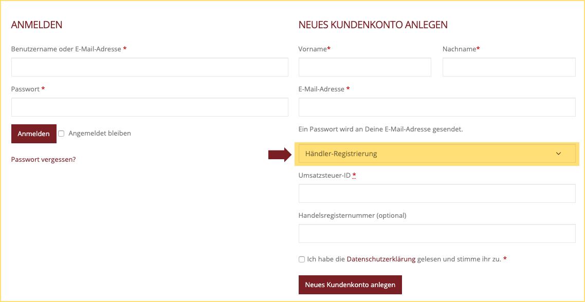 KW Händler-Shop Info